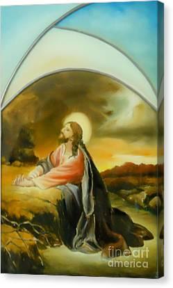 Prayer Of Jesus Canvas Print