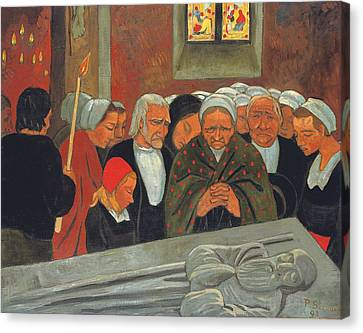 Prayer To Saint Herbot Canvas Print by Paul Serusier