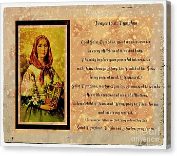 Prayer To St. Dymphna 2 Canvas Print by Barbara Griffin