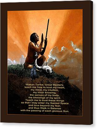 Prayer To The Great Mystery Poster Canvas Print by Rick Mosher