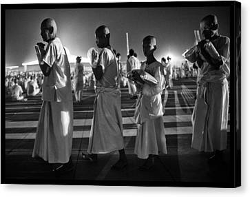 Prayers For Peace In Thaiand Canvas Print by David Longstreath