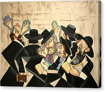 Praying Rabbis Canvas Print by Anthony Falbo