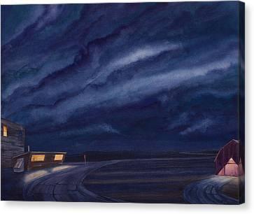 Pre-dawn On The Hi-line Iv Canvas Print by Scott Kirby