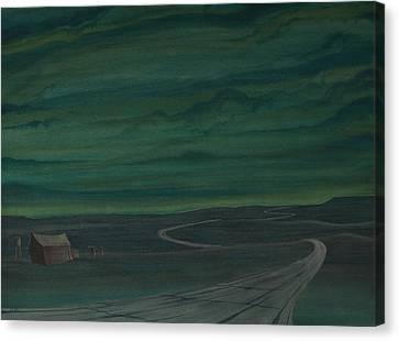 Pre-dawn On The Hi-line V Canvas Print by Scott Kirby