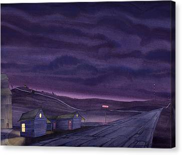 Pre-dawn On The Hi-line Vi Canvas Print