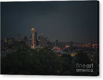 Pre-dawn Seattle Canvas Print by Gene Garnace