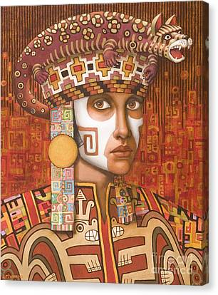 Pre-inca 1 Canvas Print by Jane Whiting Chrzanoska