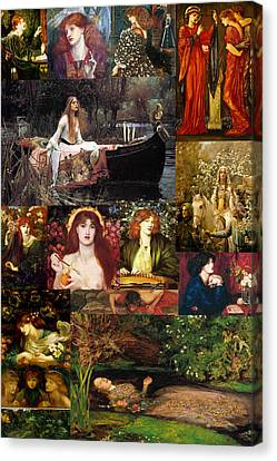 Collier Canvas Print - Pre Raphaelite Collage by Philip Ralley