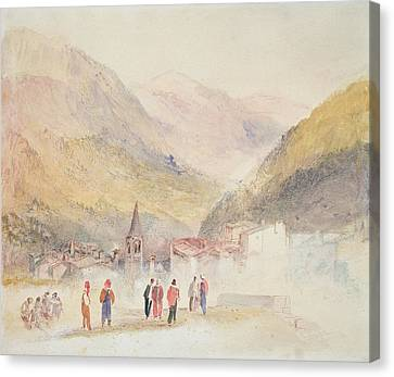 Italian Landscapes Canvas Print - Pre St Didier, 1836 by Joseph Mallord William Turner