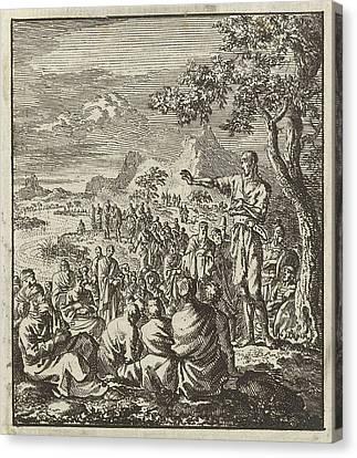 Preaching Of John The Baptist On The Banks Of The Jordan Canvas Print
