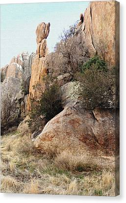 Precarious Canvas Print by Gordon Beck