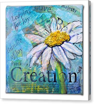 Precious Baby Creation Canvas Print by Lisa Fiedler Jaworski