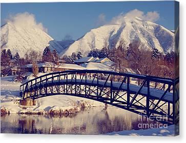 Precious Bridge Canvas Print by Gloria Pasko