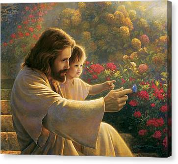 Change Canvas Print - Precious In His Sight by Greg Olsen