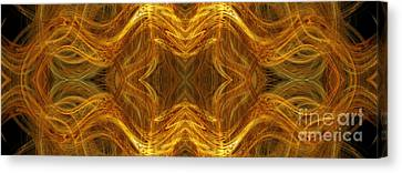 Precious Metal 3 Ocean Waves Dark Gold Canvas Print by Andee Design