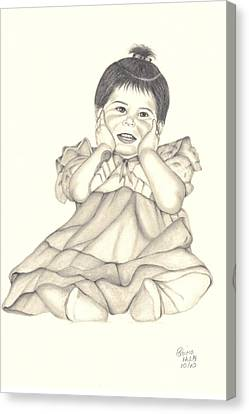Canvas Print featuring the drawing Precious by Patricia Hiltz
