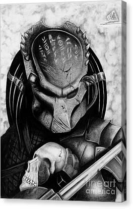 Horror Fantasy Movies Canvas Print - Predator by Christopher Spring