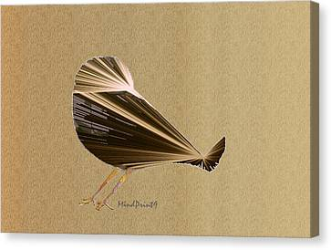 Preening Bird Canvas Print by Asok Mukhopadhyay
