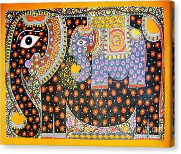 Pregnant Elephant Canvas Print