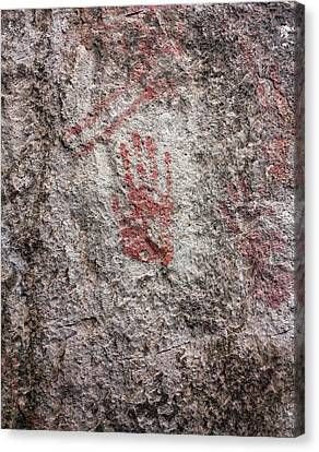Prehistoric Handprint Canvas Print
