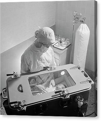Premature Baby Unit Canvas Print by Library Of Congress