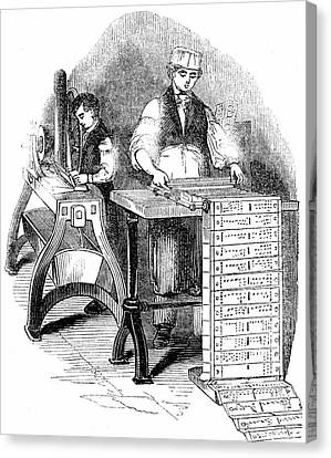 Loom Canvas Print - Preparing Cards For A Jacquard Loom by Universal History Archive/uig