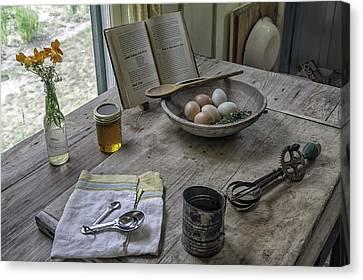 Preparing Dinner With Marjorie  Canvas Print by Lynn Palmer