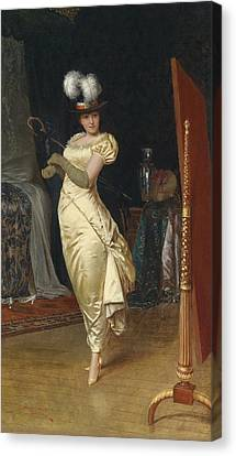 Preparing For The Ball Canvas Print by Frederick Soulacroix