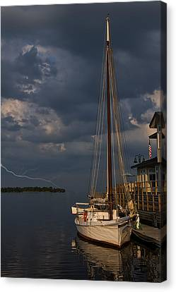 Preparing For The Storm Canvas Print by Chris Flees