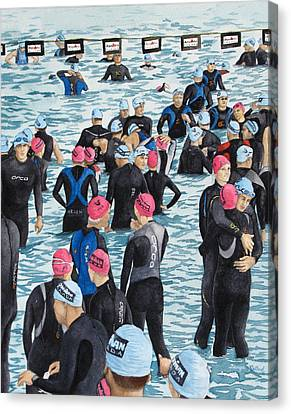 Preparing For The Swim Canvas Print by Tanya Petruk