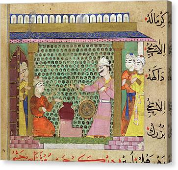 Preparing Medicines Canvas Print by British Library