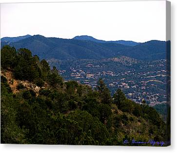 Prescott Mountainsides Canvas Print by Aaron Burrows