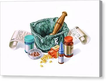 Prescription Medicine Canvas Print by Leonello Calvetti