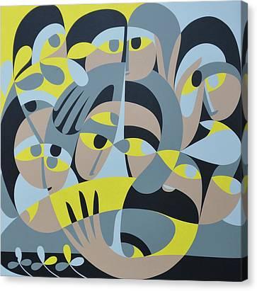Presence Canvas Print - Presence IIi, 1987 Acrylic On Board by Ron Waddams