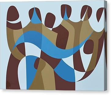 Presence Canvas Print - Presence Iv, 1989 Acrylic On Board by Ron Waddams