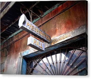 Preservation Hall Canvas Print by Beth Vincent