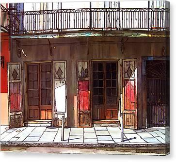 Preservation Hall Doors 370 Canvas Print by John Boles