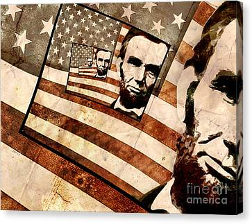 President Abraham Lincoln Canvas Print by Phil Perkins