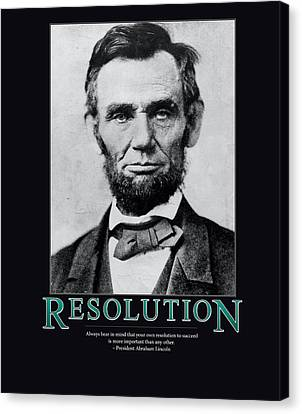 President Abraham Lincoln Resolution  Canvas Print by Retro Images Archive