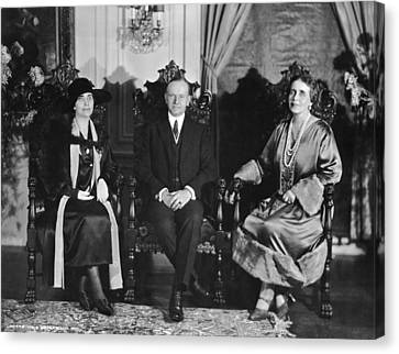 President And Mrs. Coolidge Canvas Print