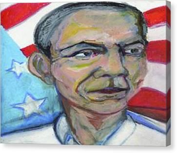 2012 Canvas Print - President Barack Obama  by Derrick Hayes