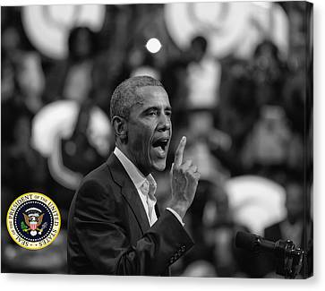 Canvas Print featuring the photograph President Barack Obama by Jerome Lynch
