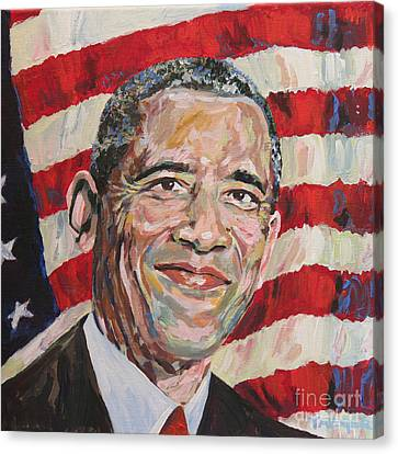 Orator Canvas Print - President Barack Obama Portrait by Robert Yaeger