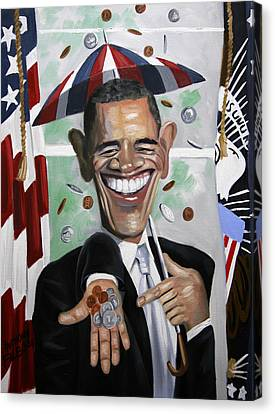 President Barock Obama Change Canvas Print