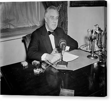 President Franklin D. Roosevelt Canvas Print by Mountain Dreams