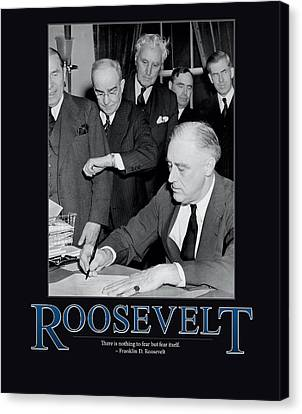 President Franklin D. Roosevelt Canvas Print by Retro Images Archive