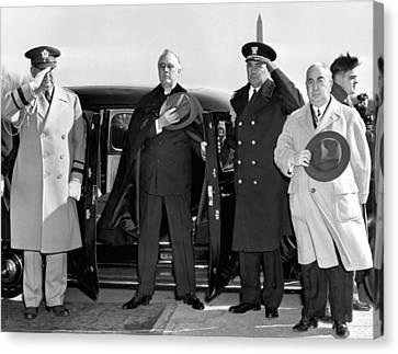 Franklin Canvas Print - President Franklin Roosevelt by Underwood Archives