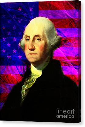 President George Washington V2 M123 Canvas Print by Wingsdomain Art and Photography