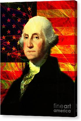 President George Washington V2 M20 Canvas Print by Wingsdomain Art and Photography