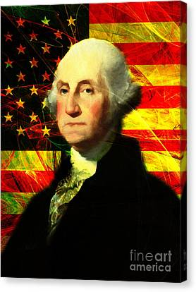 President George Washington V2 Canvas Print by Wingsdomain Art and Photography